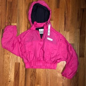 Asos 4505 cropped jacket with hood. Hot Pink US 2
